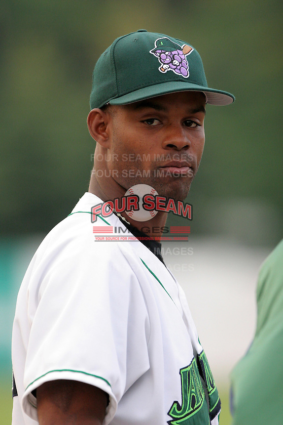 Jamestown Jammers Alexis Sosa during a NY-Penn League game at Russell Diethrick Park on July 9, 2006 in Jamestown, New York.  (Mike Janes/Four Seam Images)