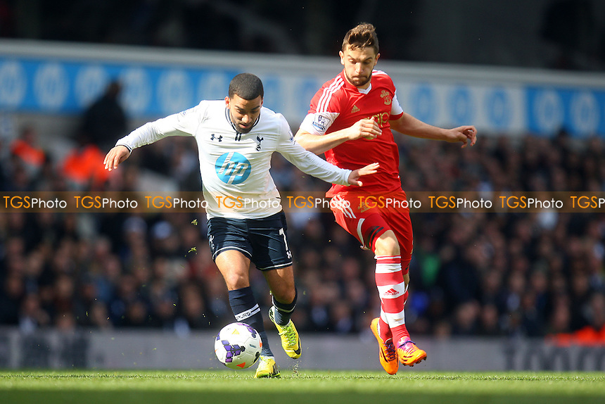 Rickie Lambert of Southampton and Aaron Lennon of Tottenham Hotspur - Tottenham Hotspur vs Southampton, Barclays Premier League Football at the White Hart Lane Stadium - 23/03/14 - MANDATORY CREDIT: Dave Simpson/TGSPHOTO - Self billing applies where appropriate - 0845 094 6026 - contact@tgsphoto.co.uk - NO UNPAID USE