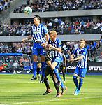 12.05.2018, OLympiastadion, Berlin, GER, 1.FBL, Hertha BSC VS. RB Leipzig, im Bild <br /> Karim Rekik (Hertha BSC Berlin #4), Fabian Lustenberger (Hertha BSC Berlin #28), Peter Pekarik (Hertha BSC Berlin #2)<br /> <br /> <br />       <br /> Foto &copy; nordphoto / Engler