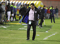 PASTO - COLOMBIA, 05-08-2018: Flavio Torres director técnico del Deportivo Pasto. Acción de juego entre los equipos Deportivo Pasto y el Once Caldas durante partido por la fecha 3 de la Liga Águila II 2018 jugado en el estadio Departamental Libertad de la ciudad de Pasto./ Flavio Torres coach of Deportivo Pasto. Action game between Deportivo Pasto and Once Caldas during the match for the date 3 of the Aguila League II 2018 played at Departamental Libertad stadium in Pasto city. Photo: VizzorImage/ Leonardo Castro / Contribuidor