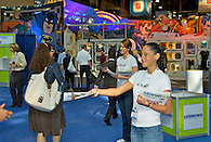 Greeting attendees at the Licensing International Expo, Javits Center, NY