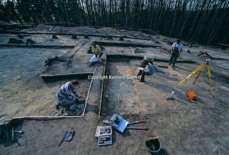 Excavation of Mittelberg hill, burial site of the Sky Disk; Bronze Age; Germany; Ancient Cultures