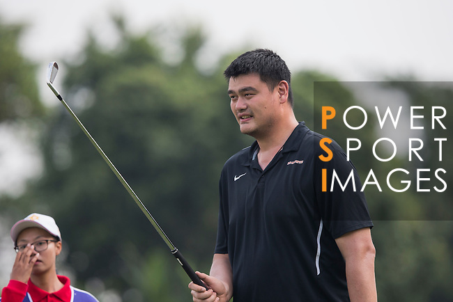 Yao Ming plays during the World Celebrity Pro-Am 2016 Mission Hills China Golf Tournament on 23 October 2016, in Haikou, Hainan province, China. Photo by Victor Fraile / Power Sport Images