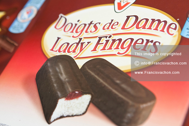 Doigts de Dame (Lady fingers) Vachon cake are seen on display in a convenient store in Quebec City February 26, 2009
