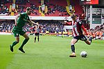 David Brooks of Sheffield Utd prepares to cross the ball during the Championship league match at Bramall Lane Stadium, Sheffield. Picture date 28th April, 2018. Picture credit should read: Harry Marshall/Sportimage