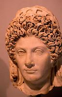 Greek Art:   Roman Portrait Bust, Julia Titi, 90 A.D., daughter of Emperor Titus (79-81 A.D.)  Getty Museum, Malibu.