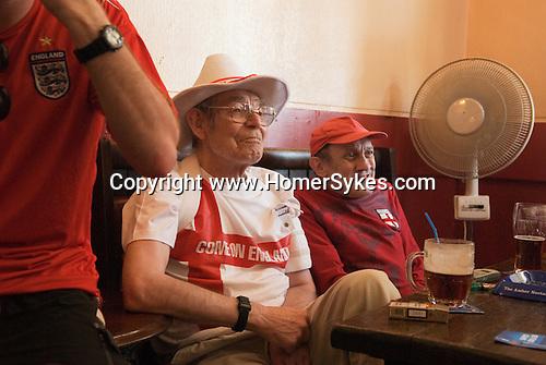 Older English football fans, Southend on Sea, essex. England. 2006