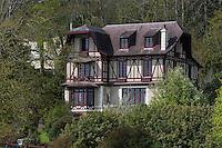 Europe/France/Normandie/Basse-Normandie/50/Baie du Mont Saint-Michel/<br /> Saint-Jean-le-Thomas:   détail villa//  //  France, Manche, Mont Saint Michel bay, Saint-Jean-le-Thomas: Villa
