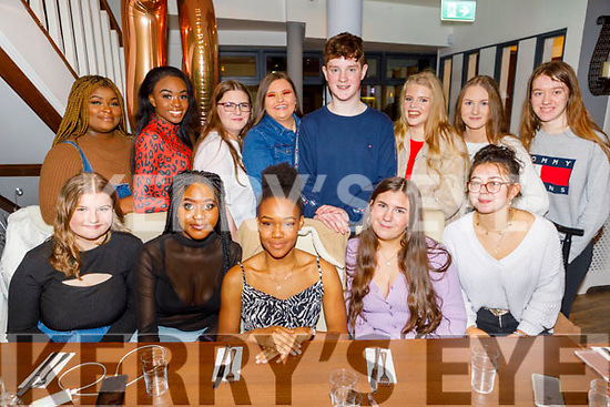 Favor Itsede from Tralee celebrating her 16th birthday in La Scala on Sunday<br /> Seated l to r: Izabela Gecak, Debbie Obilana, Favor Itsede, Jessica Harrington and Charlotte Fort.<br /> Back l to r: Mimotalai Oyevanji, Bridget Akintope, Amy Naughton, Magda Gacek, Matthew McDonnell, Ellie Stack, Aimee Galvin and Kiera Begley.