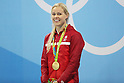 Pernille Blume (DEN),<br /> AUGUST 13, 2016 - Swimming : <br /> Women's 50m Freestyle Medal Ceremony<br /> at Olympic Aquatics Stadium <br /> during the Rio 2016 Olympic Games in Rio de Janeiro, Brazil. <br /> (Photo by Koji Aoki/AFLO SPORT)