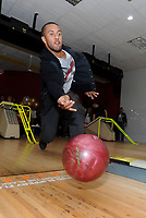 Pictured: Wayne Routledge. Wednesday 15 November 2012<br /> Re: Swansea City FC players have played bowling at the Tenpin bowling alley at Parc Tawe, Swansea, south Wales.