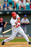 11 March 2006: Alex Escobar, outfielder for the Washington Nationals, at bat during a Spring Training game against the Los Angeles Dodgers. The Nationals defeated the Dodgers 2-1 in 10 innings at Space Coast Stadium, in Viera, Florida...Mandatory Photo Credit: Ed Wolfstein.