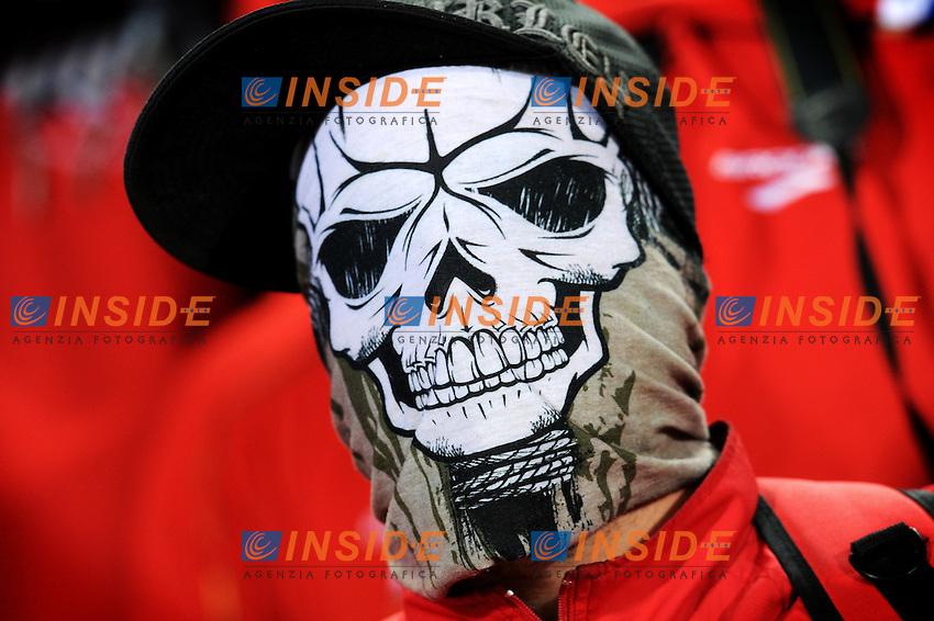 Tifosi Supporters del Cile<br /> Cile Spagna 1-2 - Chile vs Spain 1-2 <br /> Campionati del Mondo di Calcio Sudafrica 2010 - World Cup South Africa 2010<br /> Loftus Versfeld Stadium, Tshwane Pretoria 25 / 06 / 2010<br /> &copy; Giorgio Perottino / Insidefoto