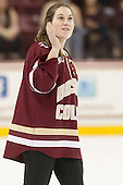 Erin Kickham (BC - 3) - The Boston College Eagles defeated the visiting University of Connecticut Huskies 3-2 on Saturday, January 24, 2015, at Kelley Rink in Conte Forum in Chestnut Hill, Massachusetts.