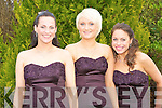 Bridesmaids at the wedding of Lisa Kearney and Michael Fryer at the Ballygarry House Hotel and Spa on Saturday l-r: Sheila Moore O'Brien, Katie Fryer and Caroline Kingsten..