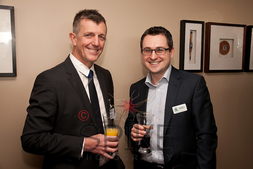 Pictured are Steve Kirkland of J Tomlinson (left) with Nic Elliott of Actons