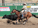 Manuel Azevedo competes in the Ranch Horse Class at the Minden Ranch Rodeo on Saturday, July 21, 2012..Photo by Cathleen Allison
