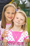Pictured at the Dr Crokes barbeque in Lewis Road on Sunday were Ava Doherty and Larisa O'Connor.   Copyright Kerry's Eye 2008