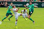 07.07.2019, Parkstadion, Zell am Ziller, AUT, PSP SV WERDER BREMEN vs WSG SWAROVSKI TIROL<br /> <br /> im Bild / picture shows <br /> <br /> Nuri Sahin (Werder Bremen #17)<br /> BENJAMIN PRANTER (WSG Tirol #07)<br /> <br /> <br /> Foto © nordphoto / Kokenge