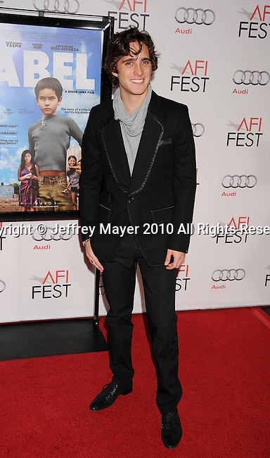 "HOLLYWOOD, CA. - November 07: Diego Boneta arrives to the AFI Fest 2010 Screening Of ""Abel"" at Grauman's Chinese Theatre on November 7, 2010 in Hollywood, California."