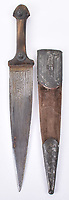BNPS.co.uk (01202 558833)<br /> Pic: C&TAuctions/BNPS<br /> <br /> A dagger which belonged to the legendary Gordon of Khartoum has emerged for sale for £3,000.<br /> <br /> The heroic British military officer's 19th century North African weapon is going under the hammer with C & T Auctions, of Ashford, Kent.<br /> <br /> Major General Charles Gordon distinguished himself during British military campaigns in China, Egypt and Sudan in the late 19th century. When another revolt broke out in Sudan in 1884, he was again sent there to rescue loyal soldiers and civilians.<br /> <br /> Gordon's men managed to evacuate 2,500 civilians but he then ignored orders to flee himself, choosing to remain in beseiged Khartoum. They held out for almost a year, earning the admiration of the British public, before the city was taken.<br /> <br /> Gordon was killed on the steps of the Governor General's palace on January 26, 1885, two days before a British relieving force arrived.