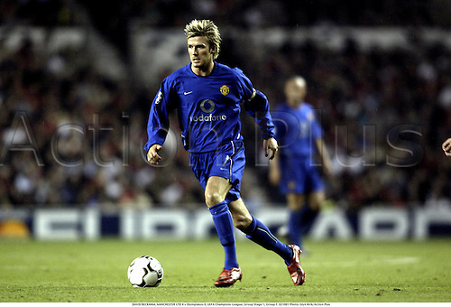 DAVID BECKHAM, MANCHESTER UTD 4 v Olympiakos 0, UEFA Champions League, Group Stage 1, Group F. 021001 Photo: Glyn Kirk/Action Plus...2002.football soccer.............................................