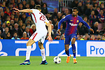 UEFA Champions League 2017/2018.<br /> Quarter-finals 1st leg.<br /> FC Barcelona vs AS Roma: 4-1.<br /> Federico Fazio vs Nelson Semedo.