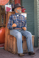 Manican sitting at Colors of the West gift shop in Williams Arizona, on route 66.