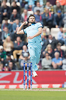 Mark Wood (England) in action during England vs West Indies, ICC World Cup Cricket at the Hampshire Bowl on 14th June 2019