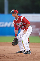 Batavia Muckdogs first baseman Eric Fisher (29) during a game against the Mahoning Valley Scrappers on June 23, 2015 at Dwyer Stadium in Batavia, New York.  Mahoning Valley defeated Batavia 11-2.  (Mike Janes/Four Seam Images)