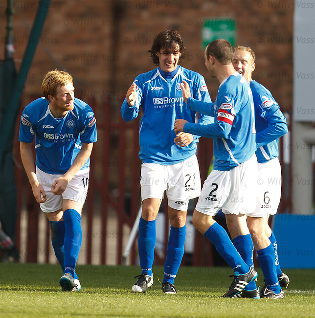 Francisco Sandaza celebrates his goal for St Johnstone