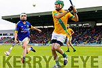 Seanie Murnane Kilmoyley in action against  Shane McElligott Lixnaw in the Kerry County Senior Hurling championship Final at Austin Stack Park on Sunday.