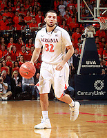 London Perrantes (32) during the game Saturday Feb. 7, 2015, in Charlottesville, Va. Virginia defeated Louisville  52-47. (Photo/Andrew Shurtleff)