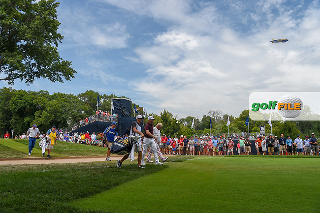 John Daly (USA) heads down 16 during 1st round of the 100th PGA Championship at Bellerive Country Club, St. Louis, Missouri. 8/9/2018.<br /> Picture: Golffile | Ken Murray<br /> <br /> All photo usage must carry mandatory copyright credit (© Golffile | Ken Murray)