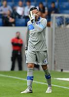 FUSSBALL  1. BUNDESLIGA  SAISON 2012/2013  2. SPIELTAG    01.09.2012 TSG 1899 Hoffenheim  - Eintracht Frankfurt Torwart Tim Wiese (TSG 1899 Hoffenheim) nachdenklich