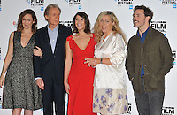 Rachael Stirling, Bill Nighy, Gemma Arterton, Lone Scherfig and Sam Claflin at the &quot;Their Finest&quot; 60th BFI London Film Festival press conference &amp; photocall, The May Fair Hotel, Stratton Street, London, England, UK, on Thursday 13 October 2016.<br /> CAP/CAN<br /> &copy;CAN/Capital Pictures /MediaPunch ***NORTH AND SOUTH AMERICAS ONLY***