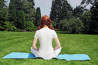 Young woman doing yoga..MR