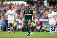 Manu Tuilagi of Leicester Tigers. Aviva Premiership match, between Leicester Tigers and Bath Rugby on September 3, 2017 at Welford Road in Leicester, England. Photo by: Patrick Khachfe / Onside Images