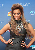 PASADENA, CA - MARCH 12: Tyra Banks, at America&rsquo;s Got Talent  Kickoff at The Pasadena Civic Auditorium in Pasadena, California on March 12, 2018. <br /> CAP/MPI10<br /> &copy;MPI10/Capital Pictures