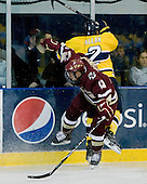 Cam Atkinson (BC - 13), Fraser Allan (Merrimack - 2) - The Merrimack College Warriors defeated the Boston College Eagles 5-3 on Sunday, November 1, 2009, at Lawler Arena in North Andover, Massachusetts splitting the weekend series.