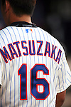 Daisuke Matsuzaka (Mets),<br /> AUGUST 23, 2013 - MLB :<br /> The detail shot. Daisuke Matsuzaka of the New York Mets during the Major League Baseball game against the Detroit Tigers at Citi Field in Flushing, New York, United States. (Photo by Thomas Anderson/AFLO) (JAPANESE NEWSPAPER OUT)