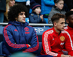 Marouane Fellaini and Adnan Januzaj of Manchester United during the Barclays Premier League match at The Etihad Stadium. Photo credit should read: Simon Bellis/Sportimage