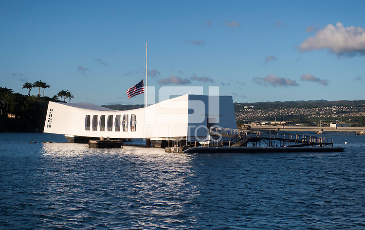 Honolulu, HI - December 4, 2015:  The USWNT visited the USS Arizona memorial at Pearl Harbor during the USWNT Victory Tour.