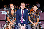 3 celebs at the Presentation Primary School Junk Kouture Fashion Show in the Rose Hotel on Thursday night. <br /> L to r: Aisling Desmond (Kerry LGFA,  David Moran (Kerry GAA) and Julianne O'Keeffe (Kerry Camogie).
