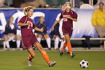 07 November 2008: Virginia Tech's Brittany Michaels (2). The University of Virginia and Virginia Tech played to a 1-1 tie after 2 overtimes at WakeMed Stadium at WakeMed Soccer Park in Cary, NC in a women's ACC tournament semifinal game.  Virginia Tech advanced to the final on penalty kicks, 2-1.