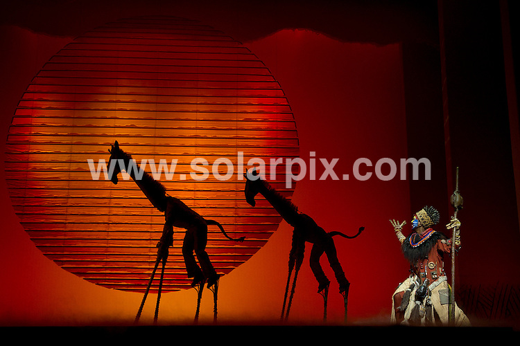 **ALL ROUND PICTURES FROM SOLARPIX.COM**                                             **WORLDWIDE SYNDICATION RIGHTS EXCEPT SPAIN - NO SYNDICATION IN SPAIN**                                                                                  Caption: 'The Lion King Musical'   Play Based in Disney Movie The lion king at the Lope de Vega Theatre in Madrid Spain.                                                                              This pic:                                                                                              JOB REF: 14070       DMS/Delores       DATE:13.10.11 13.10.2011                                                           **MUST CREDIT SOLARPIX.COM OR DOUBLE FEE WILL BE CHARGED**                                                                      **MUST AGREE FEE BEFORE ONLINE USAGE**                               **CALL US ON: +34 952 811 768 or LOW RATE FROM UK 0844 617 7637**