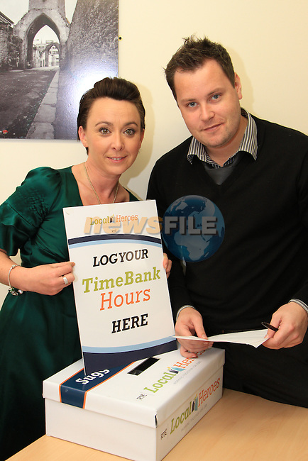 Julieanne Lawler and Mark McGowan (Scholar's Hotel); happy to be and help the local heroes..Picture: Shane Maguire / www.newsfile.ie