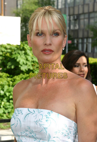 NICOLLETTE SHERIDAN.2005/2006 ABC UpFront - Show, Lincoln Center in New York City.May 17th, 2005.headshot portrait blue and white strapless Nicolette.www.capitalpictures.com.sales@capitalpictures.com.©Ian Wilson/Capital Pictures