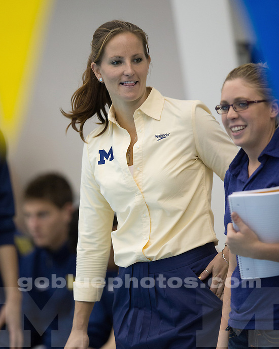 The University of Michigan men's swimming & diving team beat Wisconsin, 172.5-115.5, at Canham Natatorium in Ann Arbor Mich., on September 29, 2012.