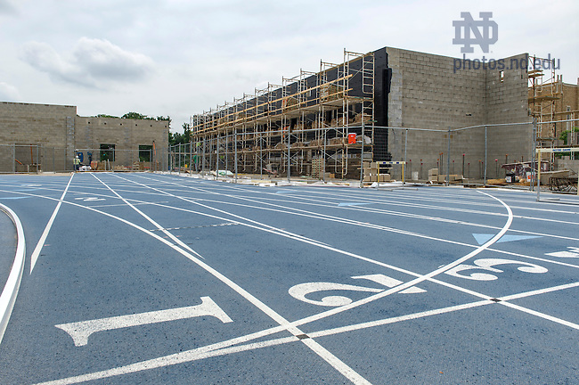 July 7, 2016; Track and Field construction. Photo by Barbara Johnston/University of Notre Dame)